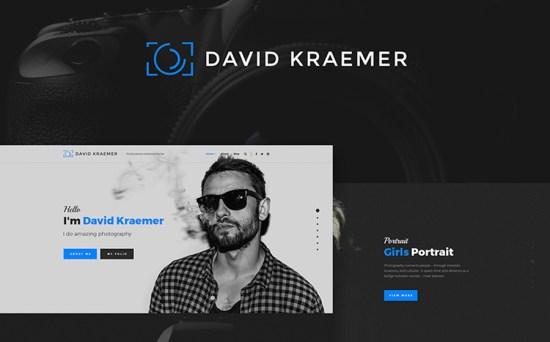 David Kraemar - Photographer & Designer Portfolio WordPress Theme