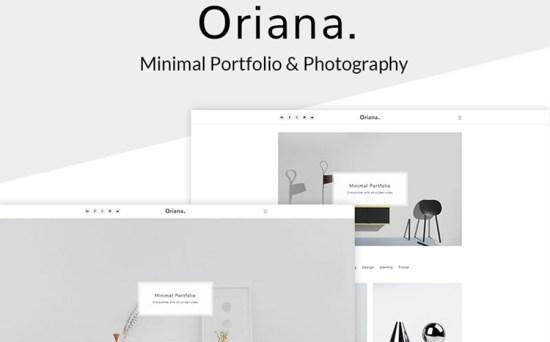 Oriana - Minimal Designer Portfolio & Photography Studio WordPress Theme