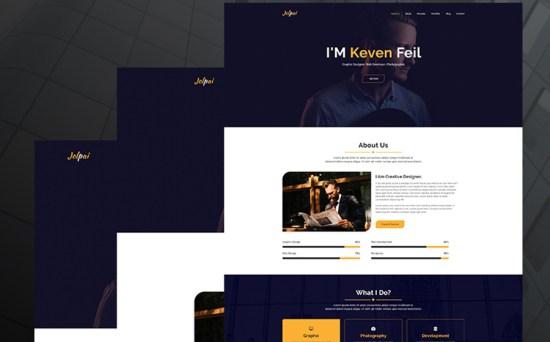 Jolpai - One Page Designer Portfolio WordPress Theme