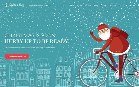 Santa's Bag - Marvelous Christmas Landing Page WordPress Theme
