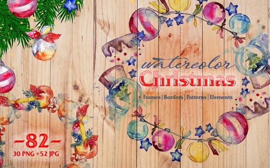 Christmas Balls - Amazing Watercolor Illustrations