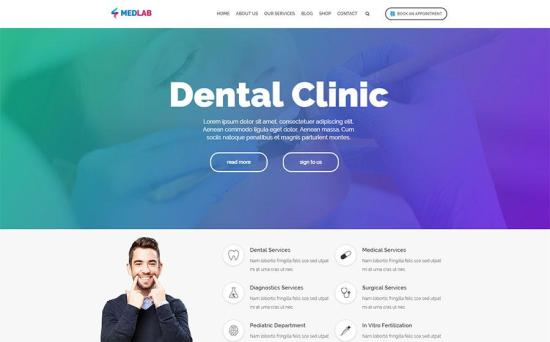 MedLab WordPress Theme