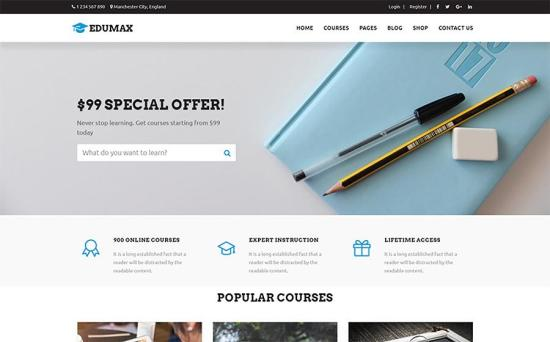 Edumax WordPress Theme