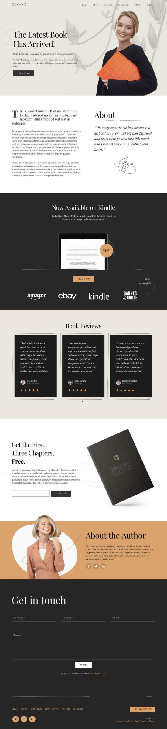 Ultra Book WordPress Theme