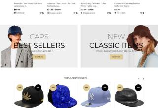 caps and hats shopify theme 01 - Caps and Hats Shopify Theme
