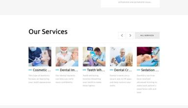 global dental center joomla template 01 - Global Dental Center Joomla Template