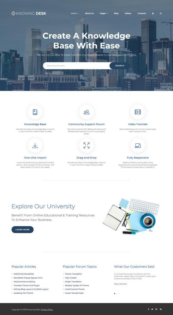 Knowing Desk Joomla Template