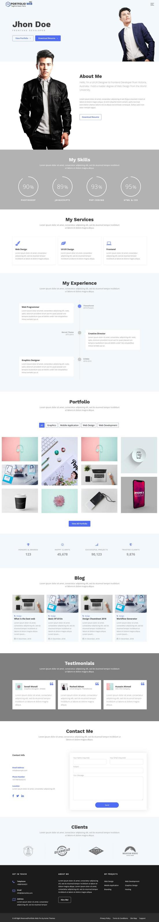 Portfolio Web Pro WordPress Theme