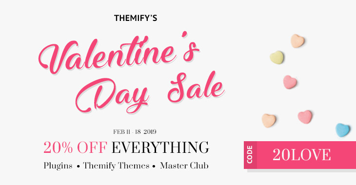 Themify Valentine Day Sale - 20% Off