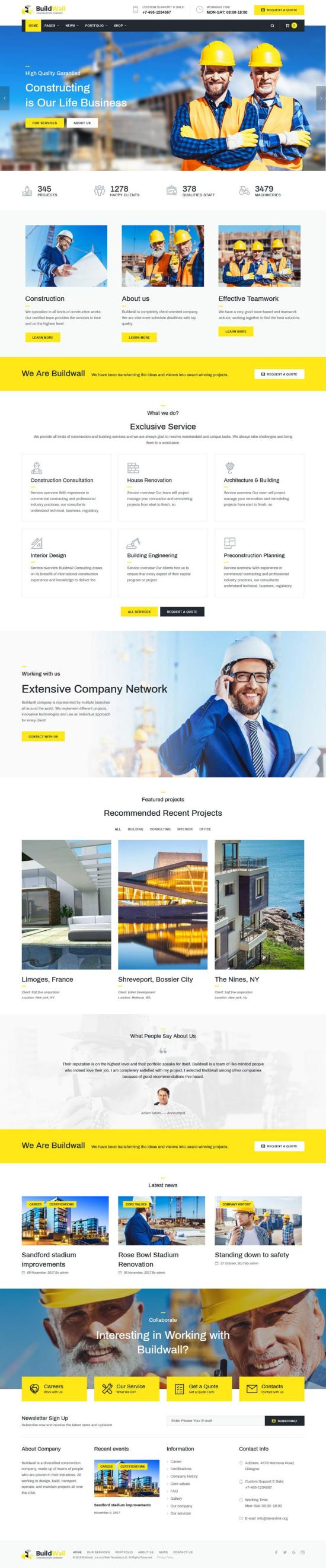 Buildwall WordPress Theme