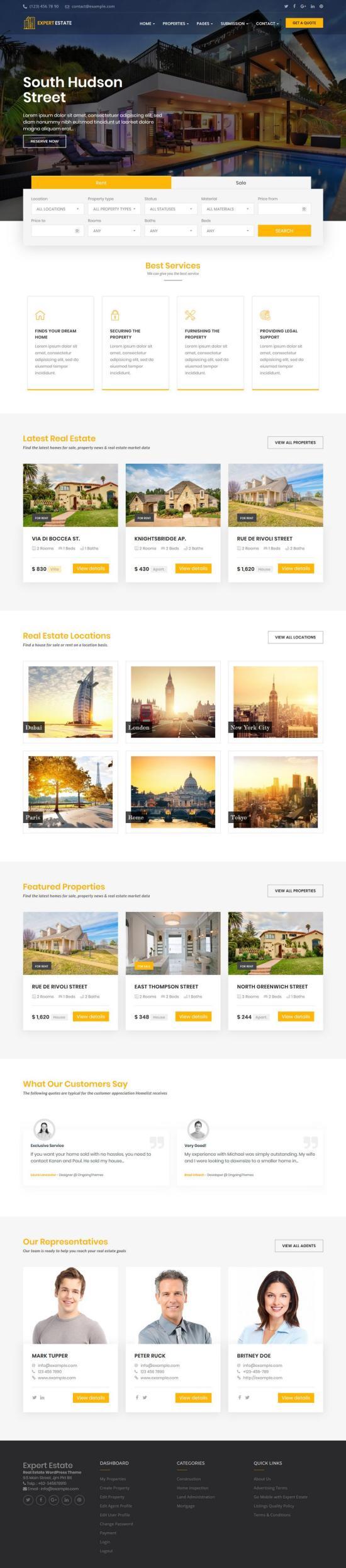 expertestate wordpress theme 01 - ExpertEstate WordPress Theme