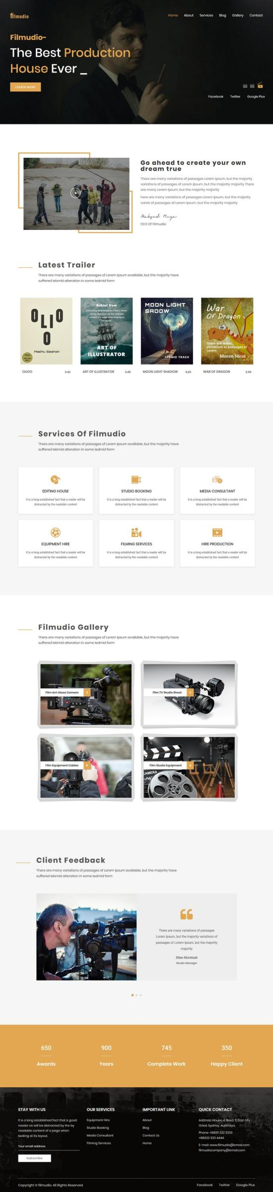 Filmudio Entertainment WordPress Theme Demo