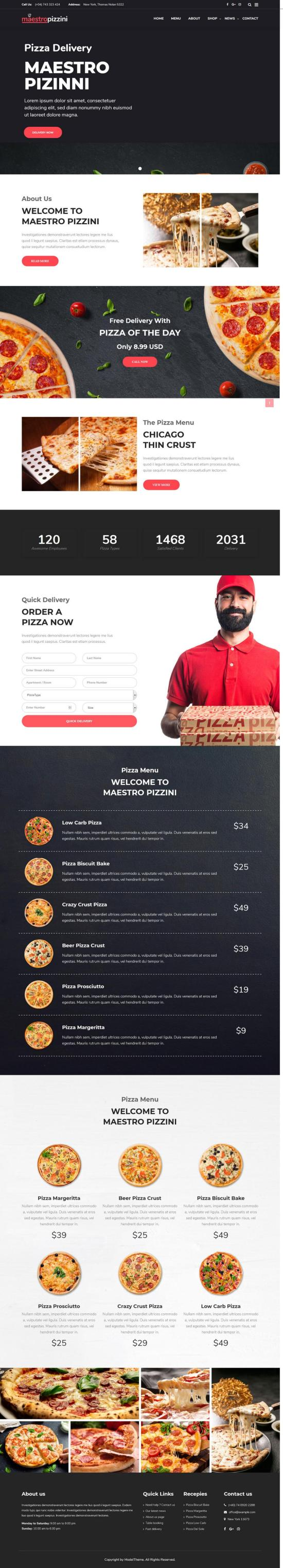 maestropizzini wordpress theme 01 - MaestroPizzini WordPress Theme