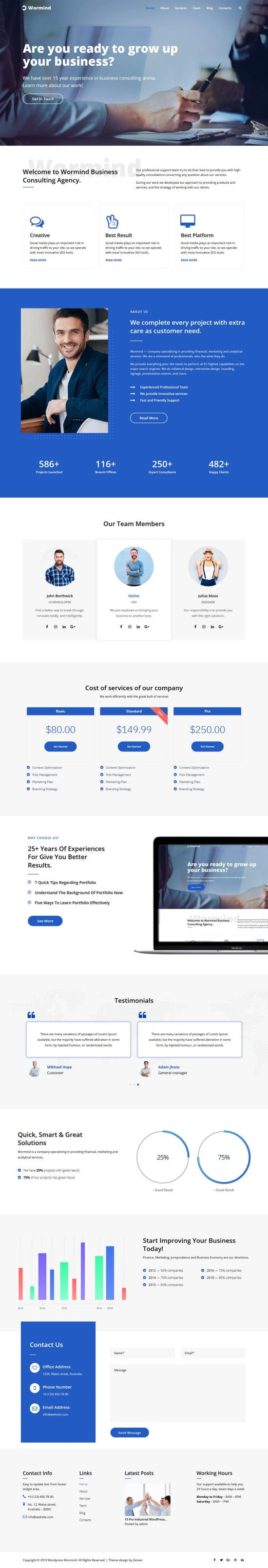 Worming Business WordPress Theme