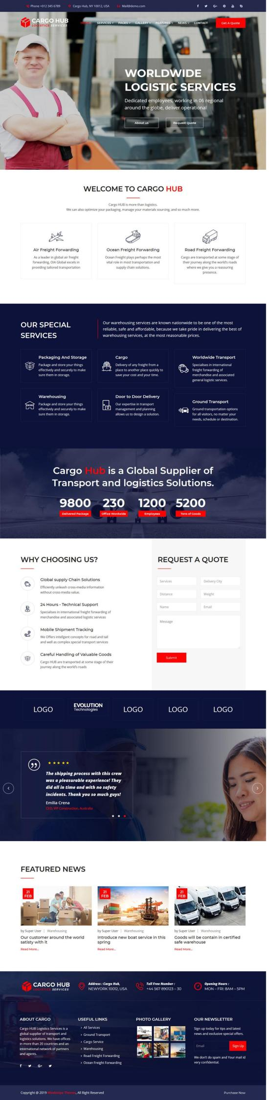 cargo hub joomla template 01 - Cargo HUB Joomla Template