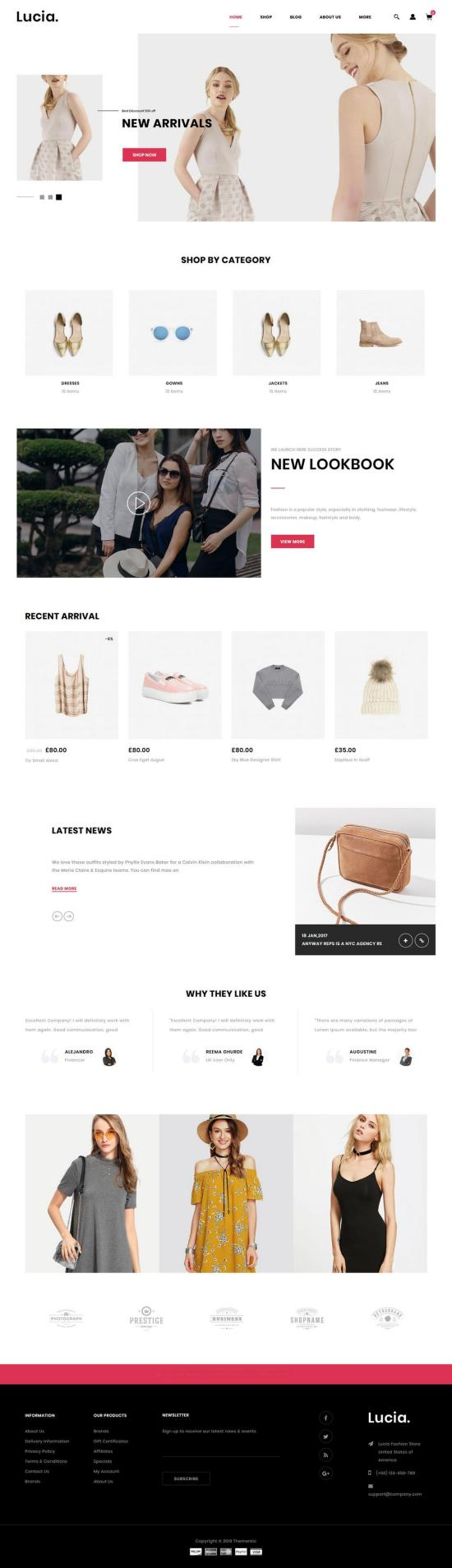 Lucia WordPress Theme Preview