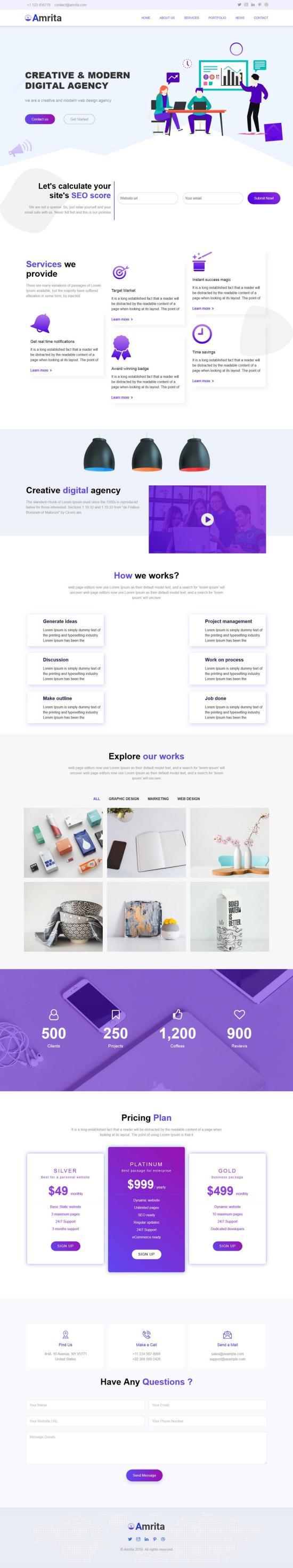Amrita WordPress Theme