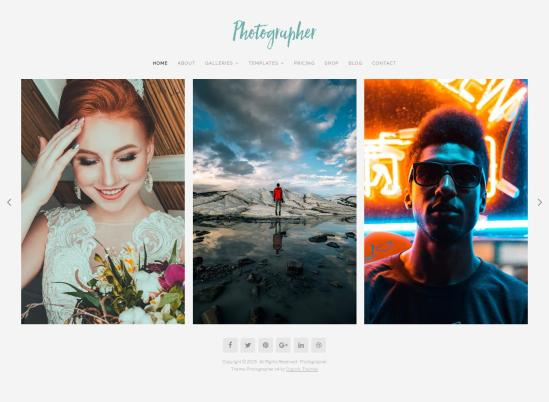 photographer wordpress theme 01 - Organic Photographer WordPress Theme