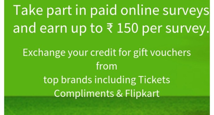Valued Opinions - Get Amazon/ Flipkart Vouchers By completing simple surveys