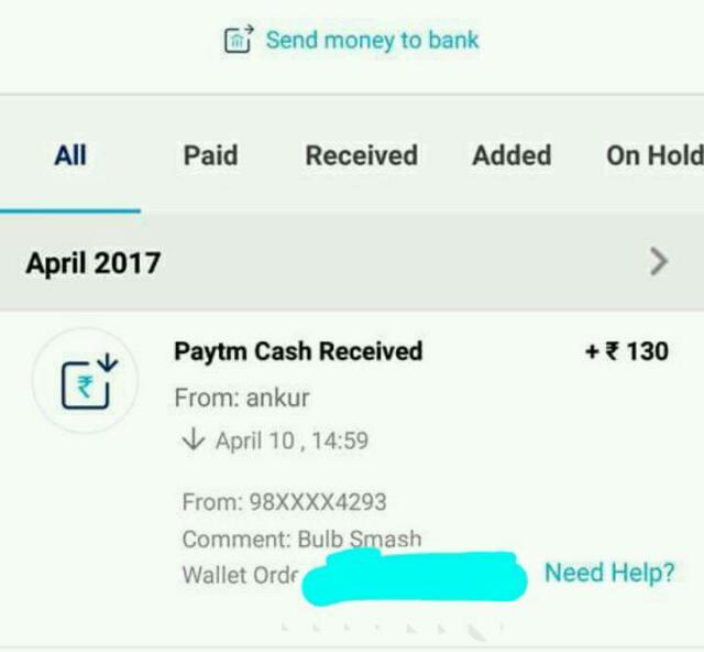 Bulb Smash Game - Earn Paytm cash Daily + Refer & Earn (*PROOF*)