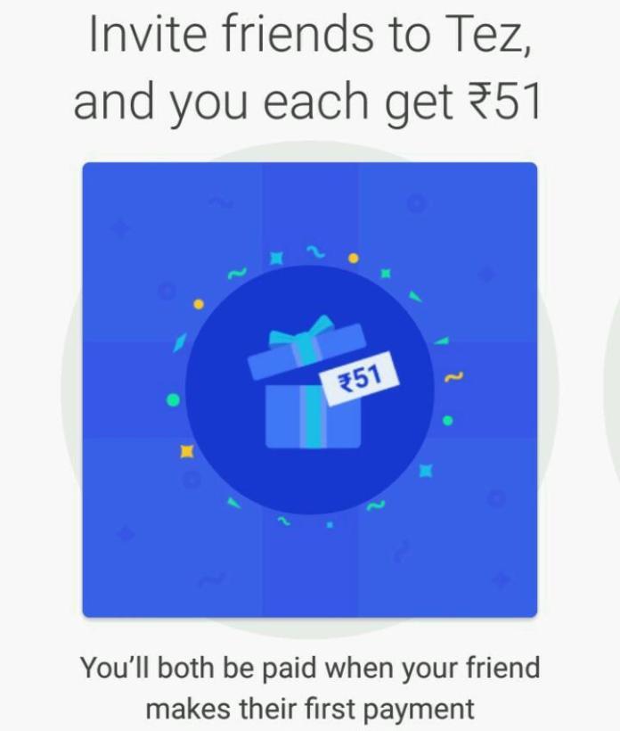 Google Tez invite and earn