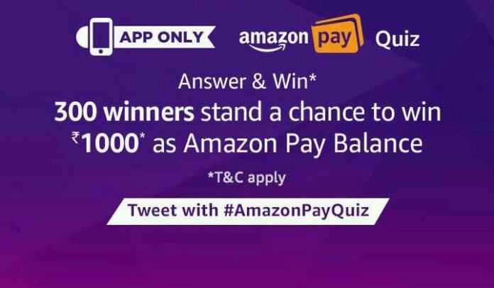 Amazon pay quiz all answers