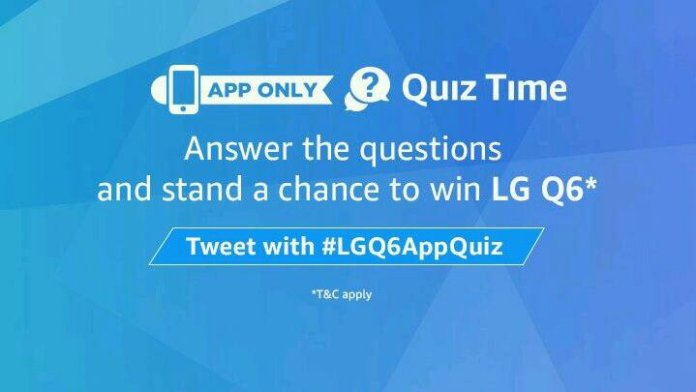 Amazon quiz win LG Q6