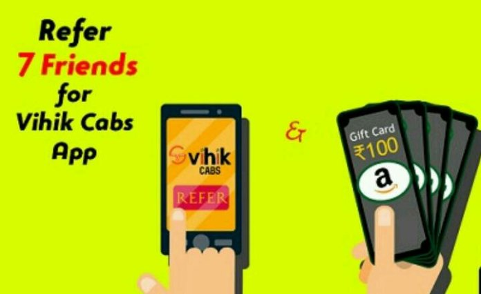 Vihik cabs referral offer