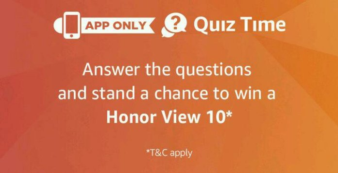Amazon honor view 10 quiz answers