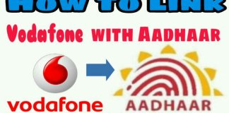 link aadhaar with vodafone mobile number