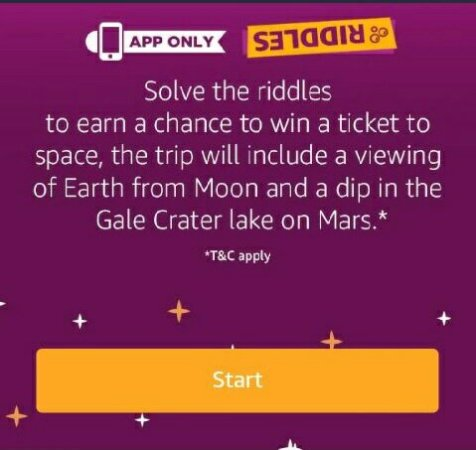 Amazon Riddle Quiz Answers - Participate and Win Free Trip to Space