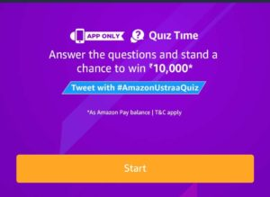 Amazon Ustraa Quiz Answers - Win Rs.10,000 Amazon pay balance