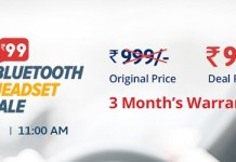 Droom Bluetooth Headset Sale - How to Buy Headset at Rs.99 from Droom Flash Sale