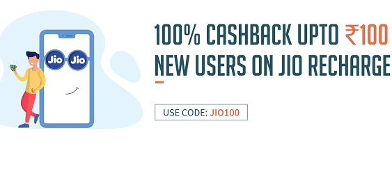 Freecharge Jio 100% cashback offer - Get Free Rs.100 Recharge (*New Users*)