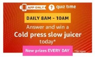 Amazon Usha Cold Press Slow Juicer Quiz Answers