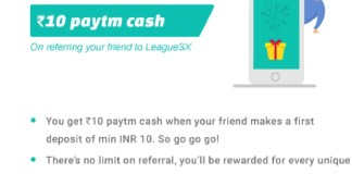 (*Maha Loot*) LeagueSX Website - Earn 10 Rs Paytm Cash Per Refer