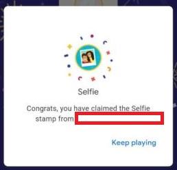 googlepay selfi stamp