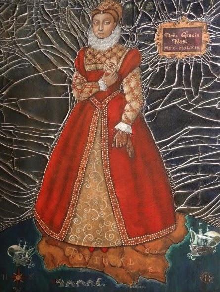 Cynthia Von Buhler tarafından resmedilen bir Dona Gracia Portresi