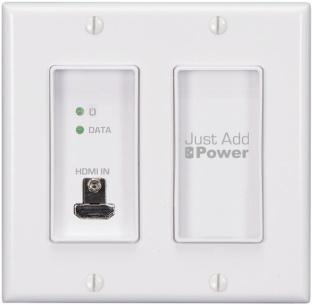 העברת אותות HDMI דרך לוחית קיר חדשה של ג'אסט אד פאור, AVmaster