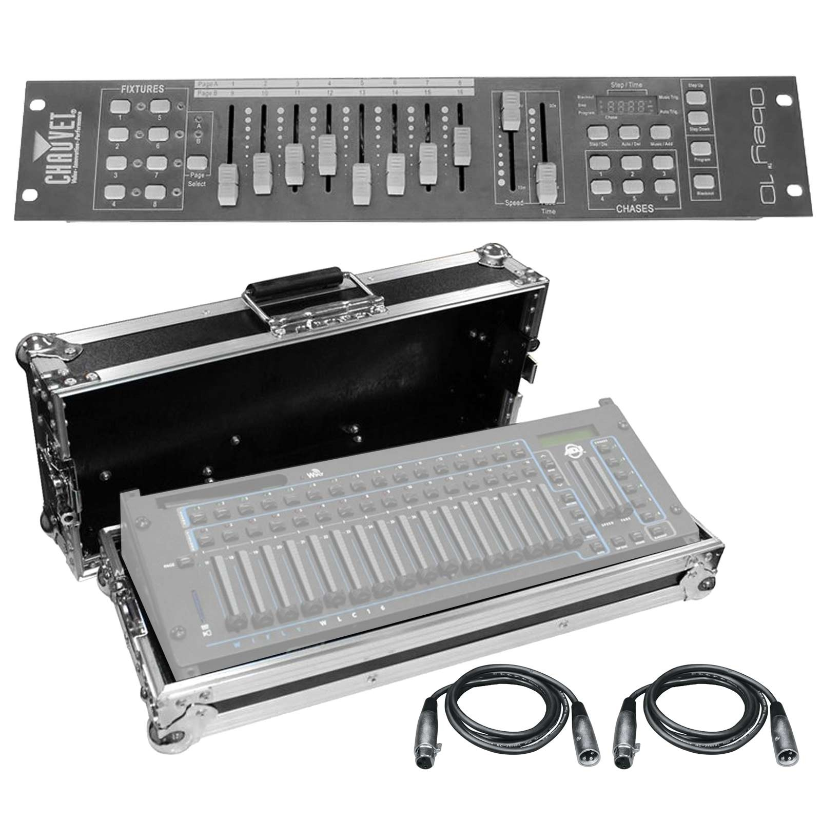 chauvet obey 10 dmx lighting controller with case avmaxx