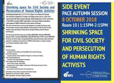 INV 2 - Speech by Mr THUAN DIT DIEUDONNÉ at the Side Event organised by the Institute for Reporters' Freedom and Safety and the Council of Europe's OING Conference