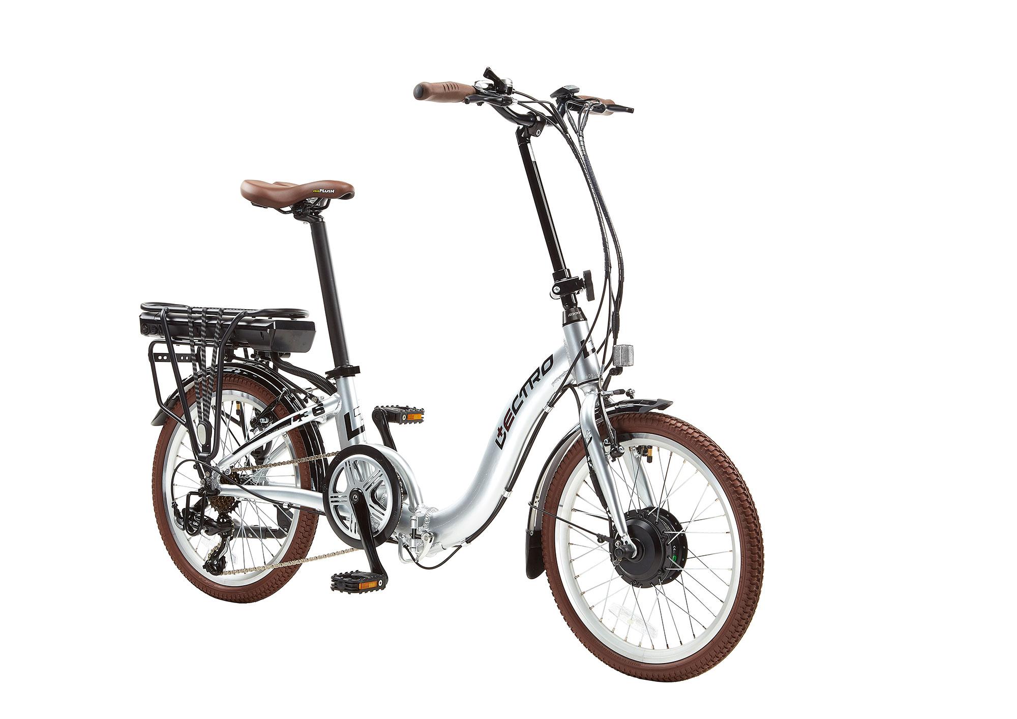 13 Easy Step 7 Speed 36v E Bike 20 Wheel Silver