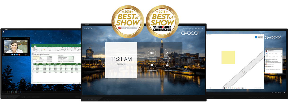 The Avocor F50 series won the Best of Show 2018 by AV Technology and Sound & Video Contractor at ISE