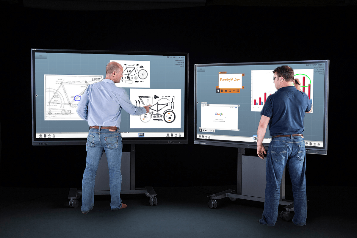 ThinkHub x Avocor whiteboarding sessions span up to 20x the display surface