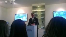 Mr Klaus speaking the gathering