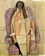 Femme en chemise dans fauteuil- Picasso- 1908