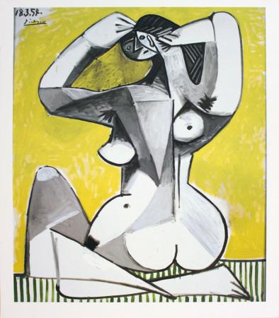 nu accroupi Pablo Picasso