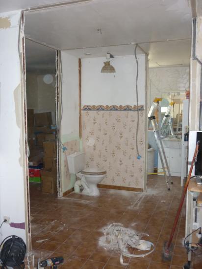 modification salle de bains en salle d eau a l italienne