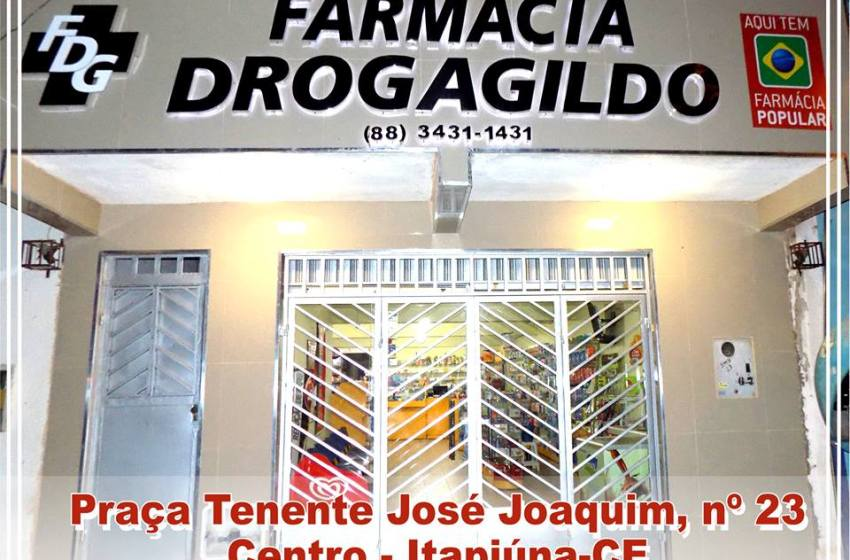 Neste sábado, 27, promoção inédita na Farmácia Drogagildo em Itapiúna