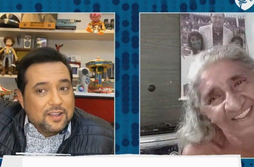 Dona Lindalva Crus de Itapiúna participa de Super Live da Record Tv com Geraldo Luís